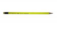 Карандаш графитовый Nataraj Neon HB с ластиком. Жёлтый корпус