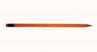 Карандаш графитовый Nataraj Neon HB с ластиком. Оранжевый корпус