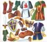 Чарівна майстерня. Казковий воїн. Багаторазові наліпки-костюми.