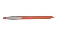 Ручка синяя шариковая Klerk fresh, оранжевый корпус