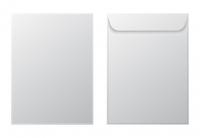 Конверт почтовый 229х324 мм, C4, белый бумажный