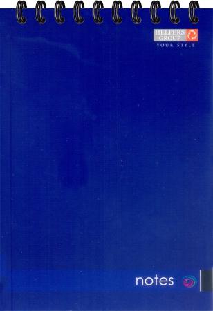 Блокнот А5, 96л, офс., пруж. верт. синий