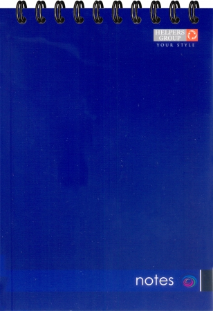 Блокнот А5, 96л, офс., пруж. гор. синий