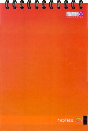 Блокнот А5, 96л, офс., пруж. верт. красный
