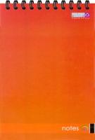 Блокнот А6, 48, офс., пруж. гор. красный