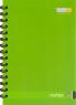 Блокнот А6, 48, офс., пруж. верт. зеленый