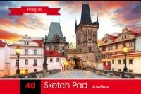"""Альбом для рисования на пружине """"Прага"""" 40 л"""