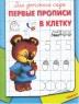 Прописи А5 для детского сада. Первые прописи в клетку