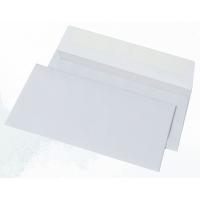 Конверт почтовый 110х220 мм, DL/E65, белый бумажный