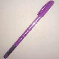 Ручка синяя шариковая Cello-702, фиолетовый корпус