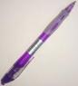 Ручка синяя шариковая Axent Comfort, фиолетовый корпус