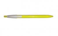 Ручка синяя шариковая Klerk fresh, жёлтый корпус