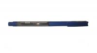 Ручка синяя шариковая Nataraj grippo, прозрачный корпус