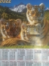 Листовой календарь А2 на 2022 год, Тигр2