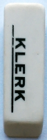 Ластик прямоугольный Klerk, белый