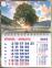 Календарь-магнит, 10х15, Дерево 1, 2022 год