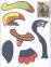 Аплікації+розмальовки А4, Красиві пташки