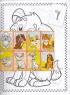 Розмальовка А4, 16 кольорових наліпок (Домашні улюбленці)
