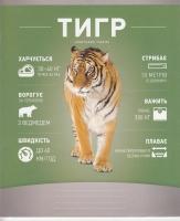 Тетрадь 18 л., кл., цв., Школярик, Арт. 018-1803К, Тигр