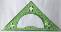 Измерительная линейка Угольник зеленая